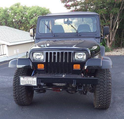 4 0 l 1992 jeep wrangler yj 4wd 242 i 6 set up for towing behind motorhome for sale jeep. Black Bedroom Furniture Sets. Home Design Ideas