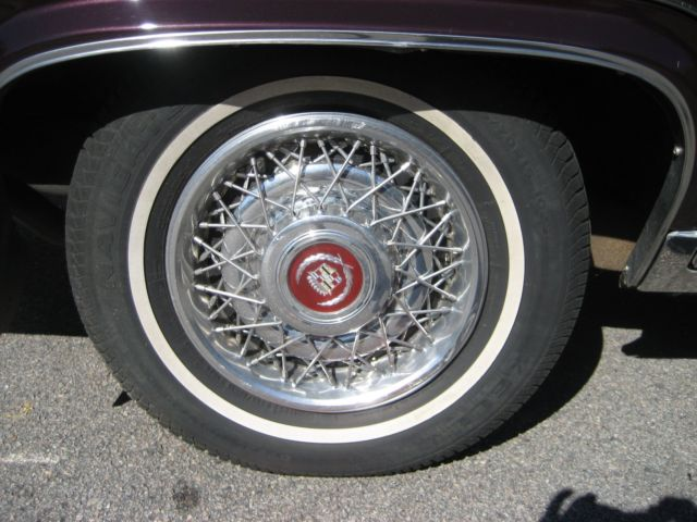 5 0 L V8 Top Of The Line Burgundy Pillow Top Leather Interior Wire Wheels For Sale Cadillac