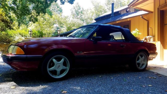 5 0 v8 convertible no reserve for sale ford mustang 1991 for sale in waxhaw north. Black Bedroom Furniture Sets. Home Design Ideas