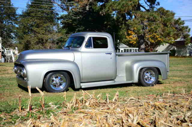 53 Ford F100 Fresh 350 Dropped Fatman Front End PS PB Tilt