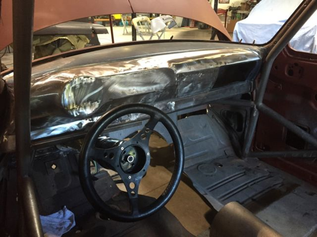 53 Pro Street Chevy Bel Air Rolling Project Big Tire Mild