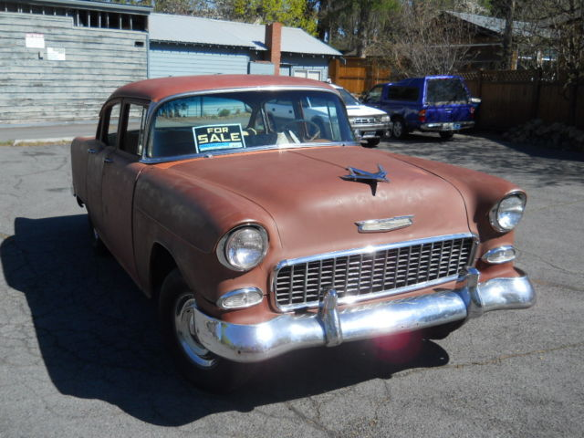 55 Chevy Belair 4 Door Sedan For Sale Chevrolet Bel Air