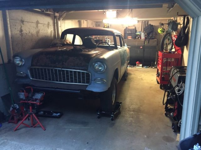 55 Chevy Gasser Project 2 Door 1955 Belair Chevrolet