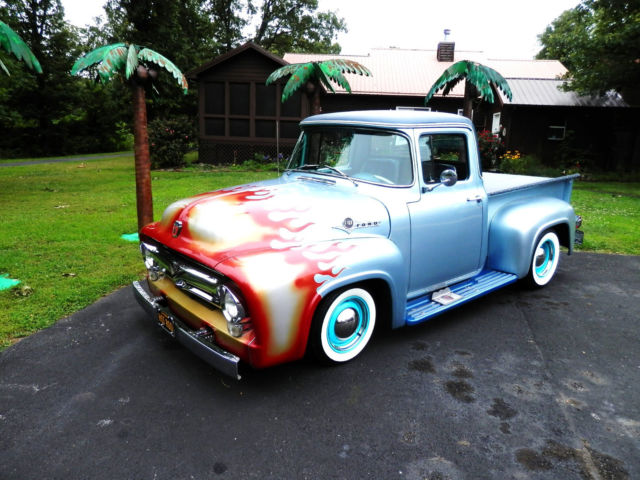 56 ford custom classic street rodh ot rod show truck restored collector no rat for sale ford f. Black Bedroom Furniture Sets. Home Design Ideas