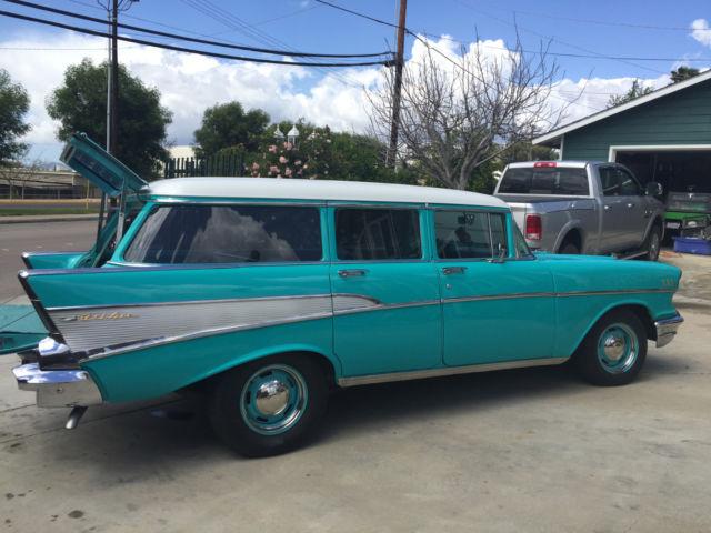 57 chevy belair 4 door wagon 210 150 tri five drive in cruiser street rod for sale chevrolet. Black Bedroom Furniture Sets. Home Design Ideas