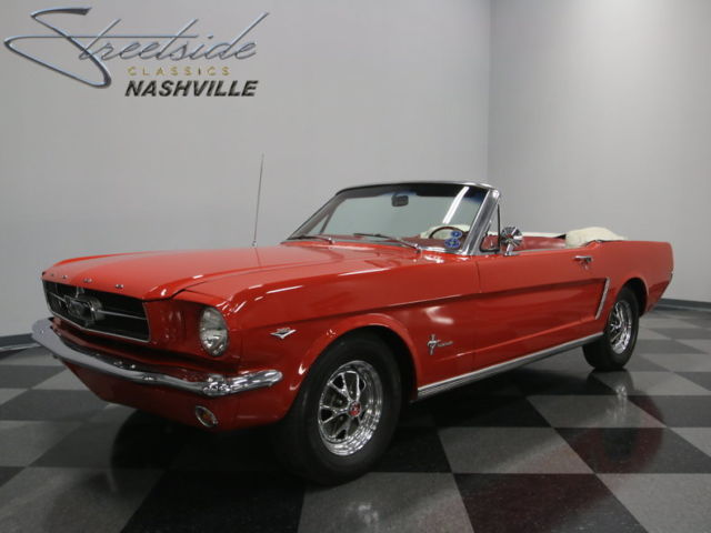 64 1 2 drop top stang original f code 260ci v8 correct rangoon red clean for sale ford. Black Bedroom Furniture Sets. Home Design Ideas