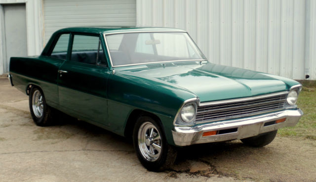 67 CHEVY II FACTORY V8 4 SPEED CAR NO RUST SOLID FLOORS SS ...