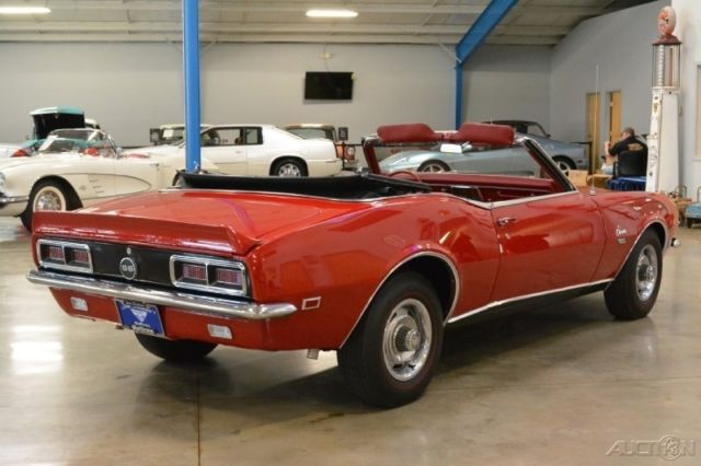 68 chevrolet camaro ss rs convertible numbers match 396ci big block automatic for sale. Black Bedroom Furniture Sets. Home Design Ideas