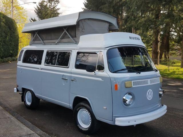 73 volkswagen bus westfalia riviera pop top camper van kombi vw bay window for sale volkswagen. Black Bedroom Furniture Sets. Home Design Ideas