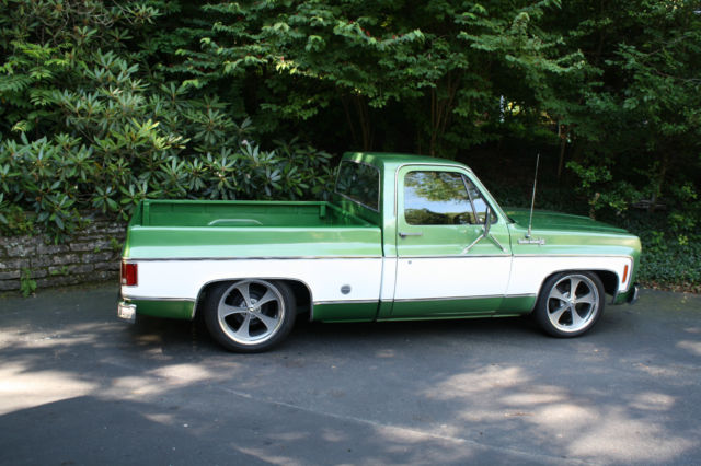 74 chevy c10 pro touring square body short bed pickup truck original low miles for sale. Black Bedroom Furniture Sets. Home Design Ideas