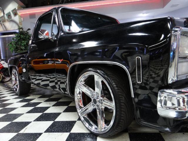 Aftermarket Rims For Chevy Silverado 1500 >> 74 Chevy Silverado Custom Step Side Pick Up Big Block Low ...
