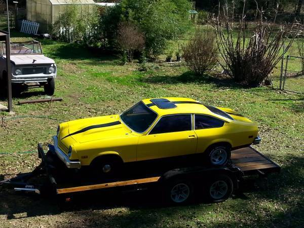 77 chevy vega hatchback v8 350 with 4 speed muncie. Black Bedroom Furniture Sets. Home Design Ideas