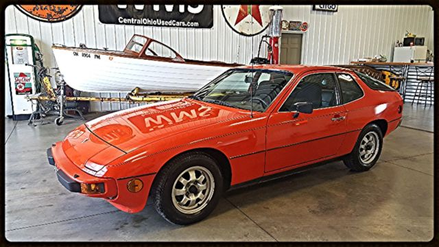 77 red porsche 924 black low lmiles classic import show car vintage wms manual for sale. Black Bedroom Furniture Sets. Home Design Ideas