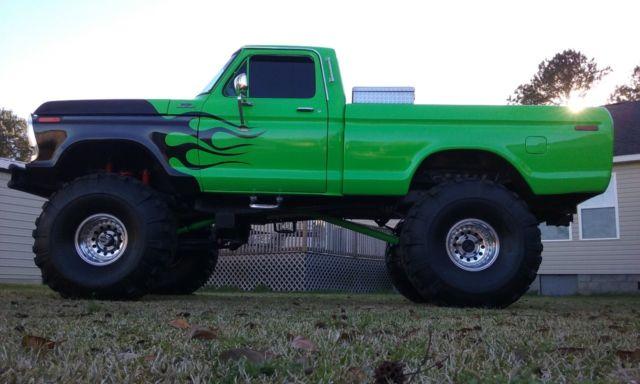 "78 1978 Ford F150 Custom 73 - 79 Lifted Monster Truck 4x4 460 12"" lift"