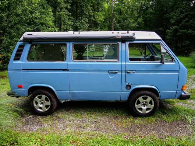 82 Medium Blue Westfalia with engine swap, new trans