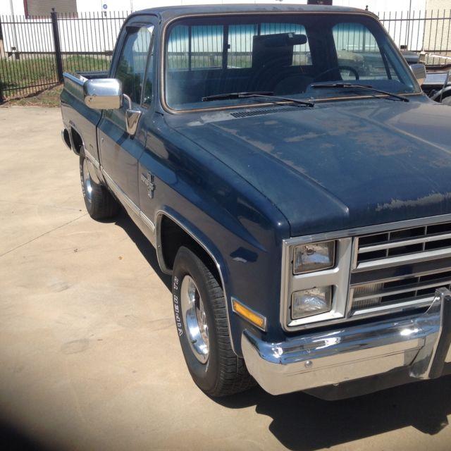 86 chevy swb pickup 86 000 a t 305 v8 for sale chevrolet c k pickup 1500 1986 for sale in fort. Black Bedroom Furniture Sets. Home Design Ideas