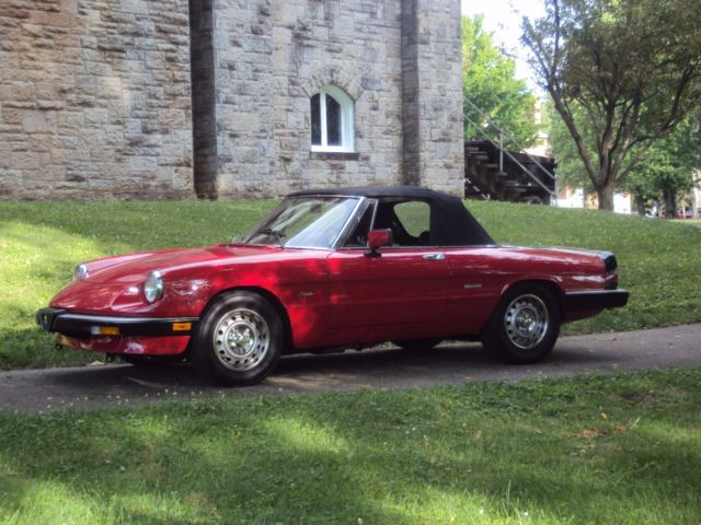 87 alfa romeo spider garage find 90 original fully documented super clean for sale alfa - Garage alfa romeo orleans ...