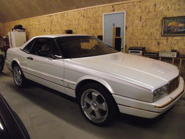 88 Allante Pearl White Tan Leather Gt Convertible And Hardtop