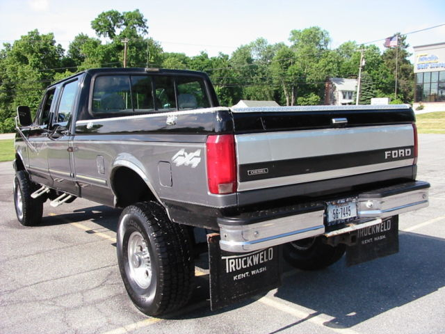 92 ford f350xlt crew 4wd 4dr 7 3 international turbo diesel idi western rustfree for sale ford. Black Bedroom Furniture Sets. Home Design Ideas