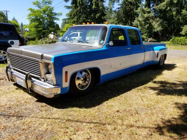 air bagged 1973 chevy dually crew cab truck square body slammed c 10 shop truck for sale. Black Bedroom Furniture Sets. Home Design Ideas