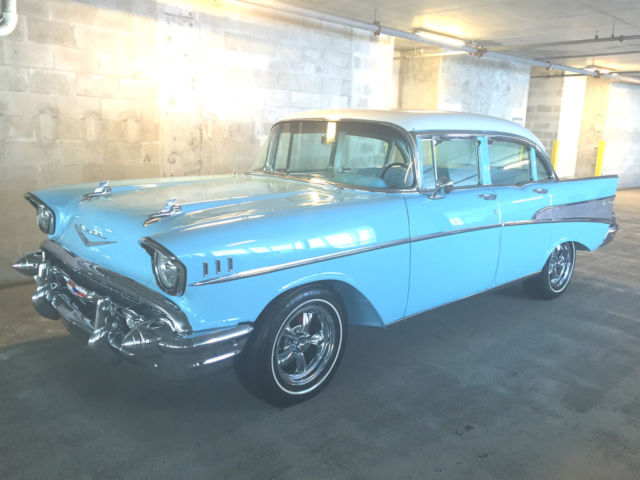 Awesome Frame Off Restored 1957 Chevy Belair Restomod 350r700ac