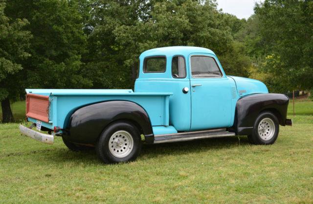 barnfound 1950 chevrolet 3100 swb 5 window pickup truck for sale chevrolet other pickups 1950. Black Bedroom Furniture Sets. Home Design Ideas