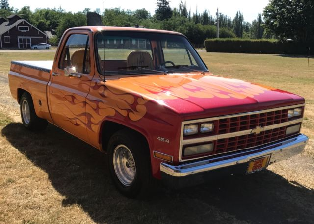 beautiful 1977 chevy c10 short box with a 454 big block for sale chevrolet c 10 chevy 327 350. Black Bedroom Furniture Sets. Home Design Ideas