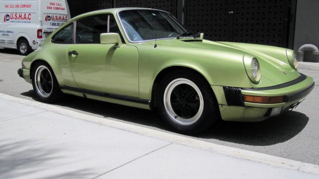 beautiful 1978 porsche 911sc 911 sc coupe light green metallic clear coat l275 for sale. Black Bedroom Furniture Sets. Home Design Ideas
