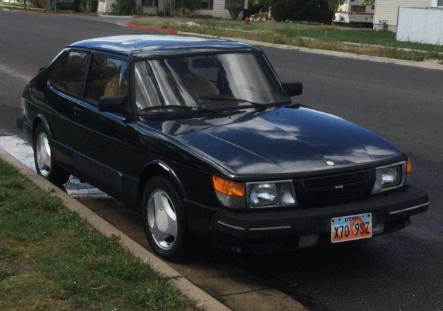 Black 1985 Saab 900 Spg  Special Performance Group  Turbo