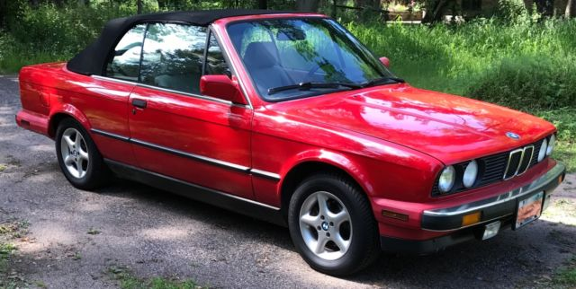 Bmw 1990 325ia Cabrio Convertable Cherry Red For Sale Bmw 3 Series Cabrio Convertible 1990
