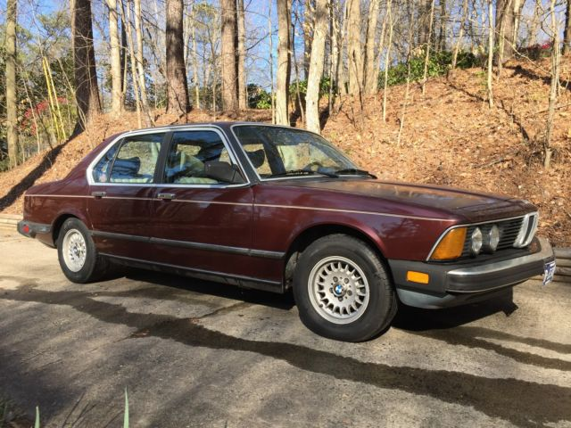 United Bmw Roswell >> BMW 733i 1984 Vintage Great Drive Away Burgundy with Tan Leather Original for sale - BMW 7 ...