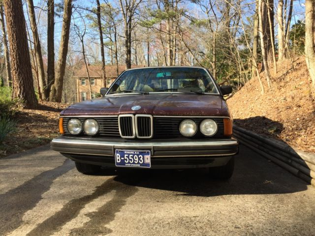 United Bmw Roswell >> BMW 733i 1984 Vintage Great Drive Away Burgundy with Tan ...
