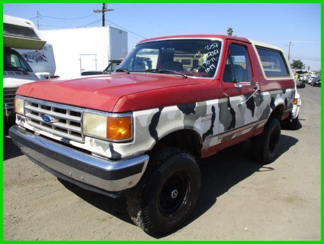 C 1989 Ford Bronco XLT Used 5.8L V8 16V Automatic NO ...