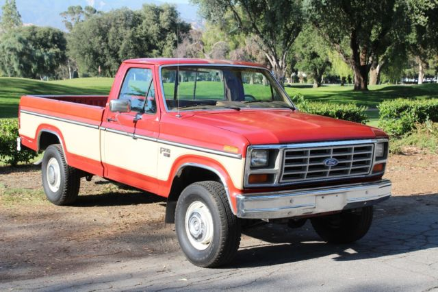 california original 100 rust free 1985 ford f250 xlt lariat diesel 4x4 no res for sale ford. Black Bedroom Furniture Sets. Home Design Ideas