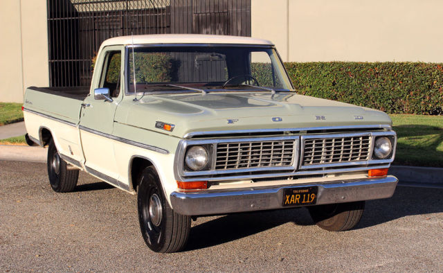 california original 1970 ford f100 sport custom 100. Black Bedroom Furniture Sets. Home Design Ideas