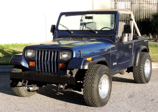 california original 1991 jeep wrangler 4 0 100 rust free 4x4 gorgeous a for sale jeep. Black Bedroom Furniture Sets. Home Design Ideas