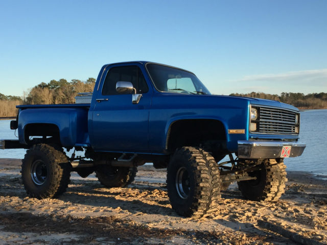 chevy step side square body boggers 4x4 4 wheel drive for sale chevrolet c k pickup 1500. Black Bedroom Furniture Sets. Home Design Ideas