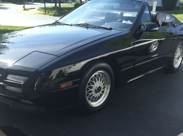 classic 1 owner 1990 mazda rx7 convertible with only. Black Bedroom Furniture Sets. Home Design Ideas