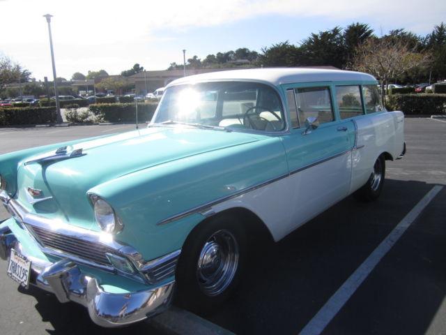 Classic 1956 chevrolet handyman 2 door wagon for sale for 1956 chevy wagon 4 door