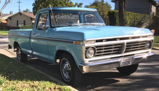 Classic 1974 ford f100 restored with rebuilt engine clean for Ford used motors for sale
