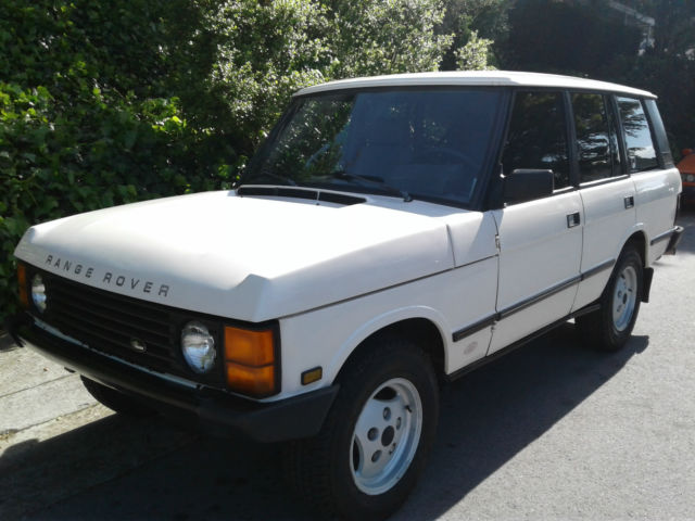 clean california rust free 1988 range rover classic swb 167k aniv ed runs great for sale land. Black Bedroom Furniture Sets. Home Design Ideas