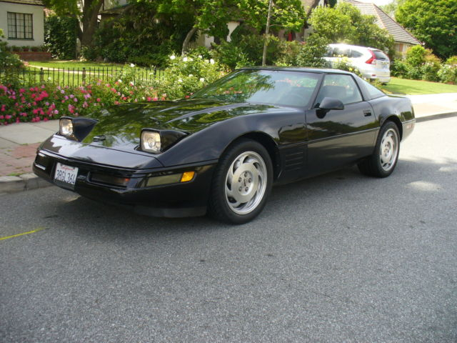 Clean California Rust Free Chevy Corvette Black on Black Freeway Miles NICE for sale - Chevrolet ...