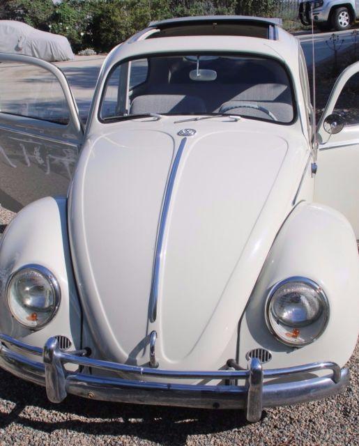 Cheap Used Volkswagen Beetle Convertible For Sale: Cool Original Rust Free Body CA Bug Rag Top Custom Split