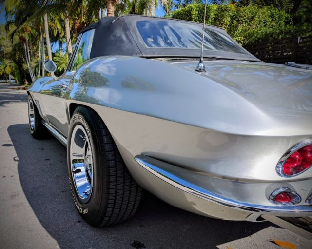 corvette 1966 silver 427 for sale chevrolet corvette 1966 for sale in miami beach florida. Black Bedroom Furniture Sets. Home Design Ideas