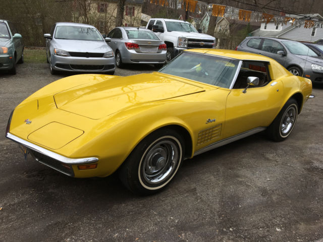 Corvette Coupe Original Speed Factory Ac Sunflower Yellow Nice