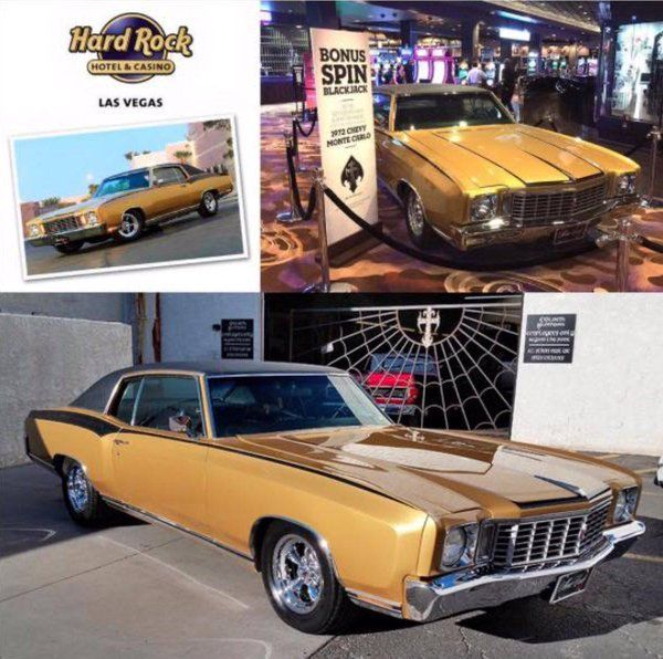 Count Kustom's 1972 Gold Monte Carlo For Sale
