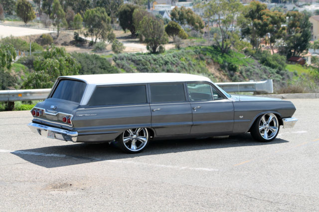 Custom 1963 Chevy Bel Air Wagon  C  P  S 4 Wheel Disc Brakes  For Sale