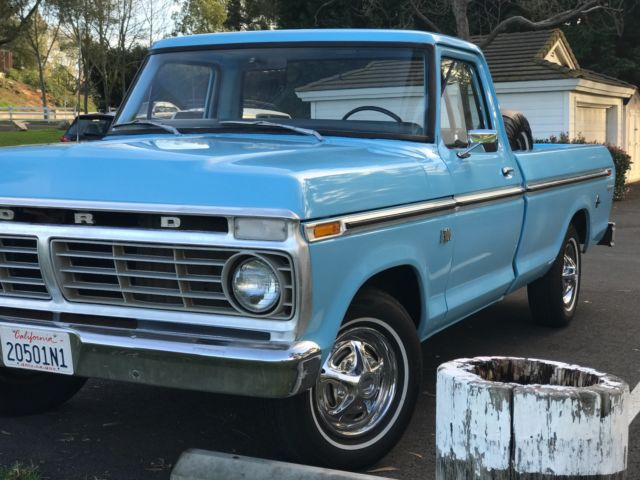 custom 1974 ford f100 restored with rebuilt engine clean title for sale ford f 100 custom 1974. Black Bedroom Furniture Sets. Home Design Ideas