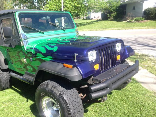 custom 1994 jeep wrangler se rebuilt motor transmission new top low miles for sale jeep. Black Bedroom Furniture Sets. Home Design Ideas