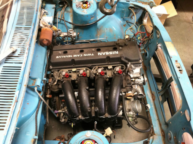 Datsun 510 Wagon KA24DE engine with VQ35HR motor in crate for sale